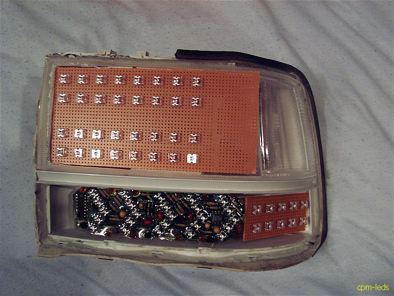 ... Borrowing CoZZm0_AUu0027s Sequential Circuit    7 Segments Of A 2x2 Block  Of Amber LEDs Would Reach Clear Across The Tail Light Almost Perfectly. Design Inspirations